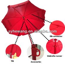advertising printed patio red tube indian beach umbrella