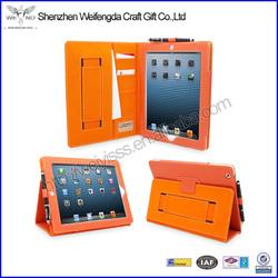 Fashion High Quality Orange PU Leather Case For Ipad 4