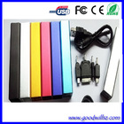 Best selling Factory price Double USB output wallet portable power bank 12000mah for smartphone