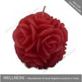 Rosa vermelha vela esculpir para casamento/decoração home