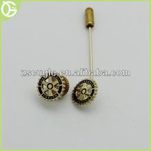 Custom metal rotary lapel stick pin