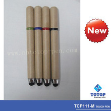 Recycled paper pen with touch screen stylus