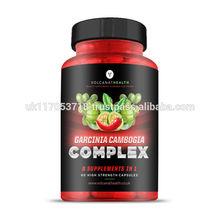 Garcinia Cambogia Complex Capsules Green Tea, Guarana, Caffeine, Cayenne, Black Pepper, Chromium, Green Coffee Bean Fat Burner