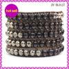2014 Beautiful Design Argento 5 Wrap Bracelet Leather Bracelets With Crystal Agate