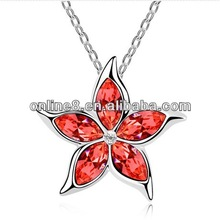 Newest Fashion Jewelry Set Wholesale Crystal Necklace clover