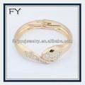 Novo design superior senhoras pulseiras de ouro maciço, jóia do rhinestone pulseira