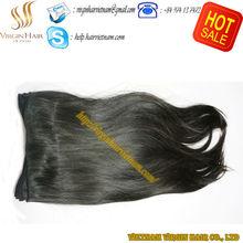 Wholesale top grade unprocessed 100 % human double drawn virgin hair extension