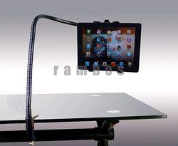 Aluminum Clip-on Bedside Desktop Lazy Rotatable Stand Gooseneck Adjustable Tablet Holder