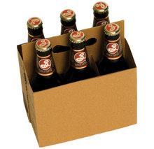 cardboard bottle carrier Custom Printed Cardboard 4/6 Pieces Coffee Cup Drink Carriers