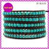 2014 Beautiful Design Argento 5 Wrap Bracelet Braided Leather Bracelet Fashion Jewlery