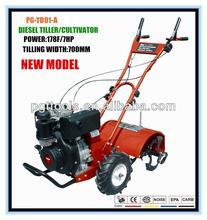 7HP Garden Diesel Digging Tiller Cultivator Weeding Tool Set Tools Kit