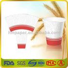 Virgin pulp wood PE paper fan for cup