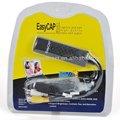 Nuevo usb easycap 2.0 de audio y vídeo vhs a dvd portátil tarjeta de captura de adaptador convertidor, usb dvr 2.0 controlador de vídeo y audio de captura de circuito cerrado de televisión