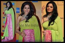 Exclusive Indian Bollywood Style Handmade Net Saree Wedding Dress Sari