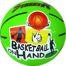 Crazy selling modern children rubber basketball