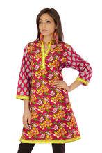Ethnic Pure Cotton Handmade Handloom Indian Regular wear Kurti Tops Casual Kaftan