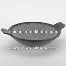 Die cast stone sauce pot cooks ham