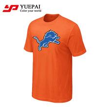 wholesale custom brand dry fit 100% polyester men sublimation orange sport t shirt