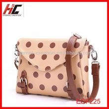 leather ladies bags wholesale custom korean style women bag with polka dot
