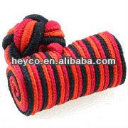 Heyco custom make coloful silk knot tie cufflink hanky set