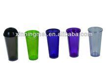 550ml 24oz WIith Straw Plastic Mug&Cup