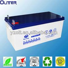 Oliter CE approved gel battery 12v 300ah factory