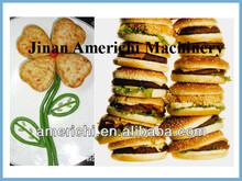 Stainless steel hamburger patty former