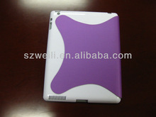 2014 New design fluent lines purple foldable case for ipad 2