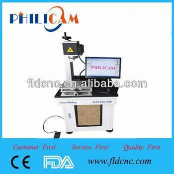 Cheap,new design,holt sale Jinan Manufacture PHILICAM 10w/20w/30w FLD-20w animal ear tag laser marking machine