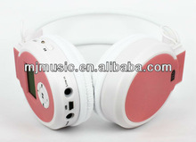 2012 best computer usb headset with FM radio built-in lithium rechargeable battery