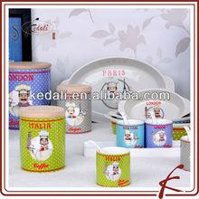 Fresh Style Wholesale Ceramic Porcelain Candy Cream Storage Jar