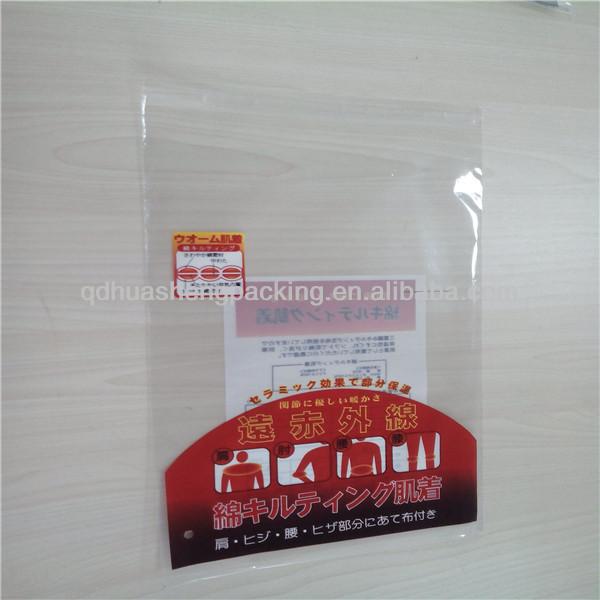 Hot Sale Custom plastic resealable header opp self-adhesive bag