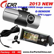 720p,G-SENSOR Night Vision Parking Lines G-sensor GPS Dual Camera Car In Dash Dvd Player