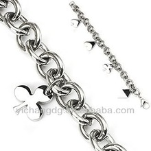 Cable Chain Stainless Steel Poker Bracelet