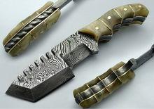 "8.00"" ONE OF KIND! Custom Damascus Full Tang Tracker Hunting Knife (AA-0195-3)"
