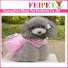 Pretty dog dress plain pet dog clothes