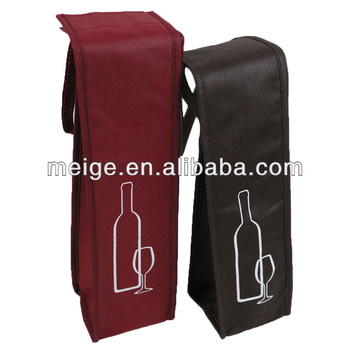 High quality wine bag/cheapest wine bag/non woven wine bottle tote bag