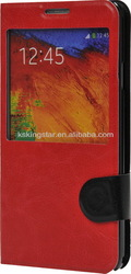 touch screen view window pu leather flip case