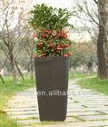 cheap synthetic rattan flower pot