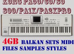 KORG_4GB_Baklan Sets_Samples_Midi_Styles_PA50_PA60_PA80_PA1X_PA800_PA2X