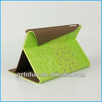 Green leather stitching tablet case for ipad air made in china
