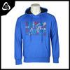 Hot selling CVC screen printing thick hoodie royal