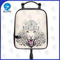leopardo impressão do desenho personalizado pu ciclismo mochila saco