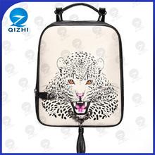 Desenho leopardo Imprinting personalizado PU saco ciclismo mochila
