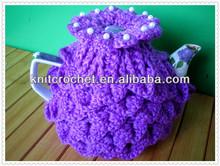 Crochet Flower Tea Cosy,Crochet Tea Cozy with Beads, Beaded Crochet Tea Cosy
