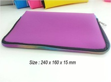 Silicone Bag with zipper (rainbow color zipper) - Cosmetic pochette - beauty bag - suitable also for pc holder