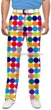 Hot Selling Lightweight Polyester Fiber Sublimated Mens Golf Pants