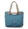 Popular casual canvas handbag denim color tote shoulder bag for ladies