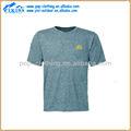 alrededor del cuello de color amarillo de impresión originales luminoso t camisa para los hombres
