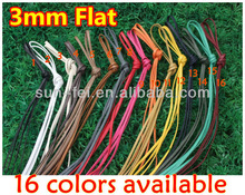 (MOQ: 50pairs)3MM Flat Wax Laces,Custom Wax Cotton Laces,Custom Dress Laces~ Colored Wax Cotton Laces ( Avaialble in 16 colors )